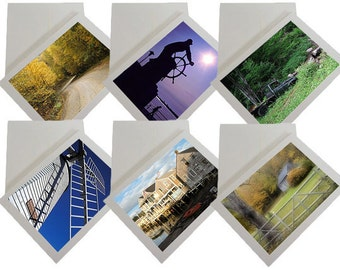 Set of 6 New England photo greeting cards in box
