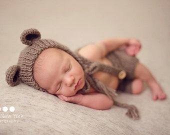 Newborn photo prop, newborn hat, newborn boy, newborn girl, newborn props,newborn bear hat, newborn bear bonnet, photo props
