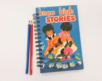 Knee High Stories, Recycled Book Journal, Notebook