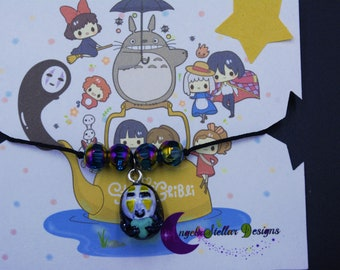 Kawaii Studio Ghibli No Face Charm Bracelet