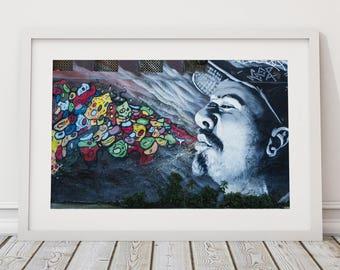 Chile Graffiti Art, South American, Urban Landscape Photography, Street Art, Contemporary Art, Banksy Inspired, Urban Art, Fine Art Print