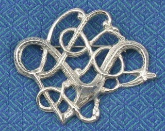Icelandic Urnes Brooch