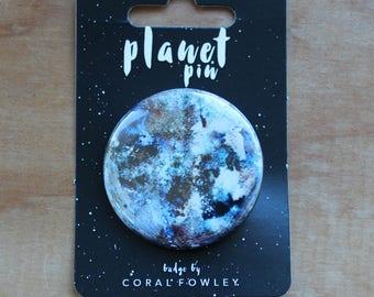 ERIS*  Planet Pin Badge   Moon Badge   Printed Badge   Cosmic Badge   Astronaut pin button   Moon badge   Astrology