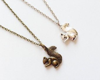 CHIPMUNK Necklace Chipmunk Jewelry Chipmunk Pendant Squirrel Necklace Squirrel Jewelry Squirrel Pendant Squirrel Gift Chipmunk Gift Animal