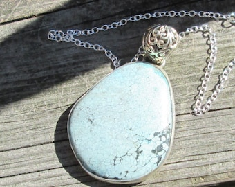 Turquoise Sterling Sterling Silver Pendant