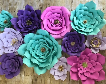 Paper Flowers set of 11