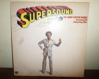 Vintage 1975 Vinyl LP Record Supersound The Jimmy Castor Bunch featuring Everything Man Very Good Condition 13146