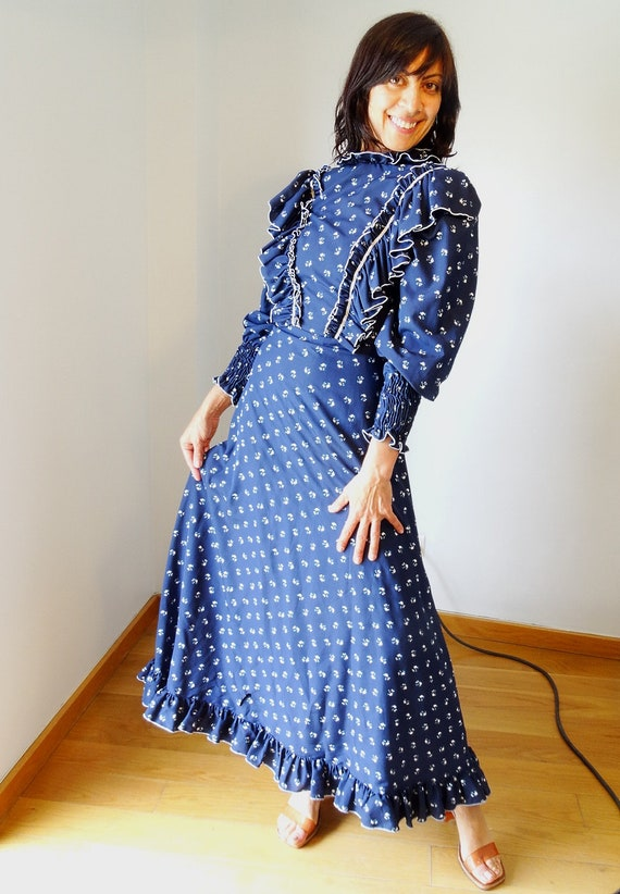 80s boho dress vintage evening gown Extra long 90s prom Victorian size ball dress dress bohemian Small gown maxi dress HPxq1Tq
