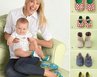 Misses Shoes and Matching Baby Shoes 3 Sizes S-M-L Sewing Pattern Simplicity 2278 UNCUT