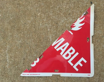 Metal HazMat Sign Half - Triangle - mable and Radio