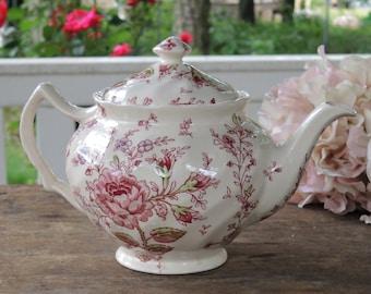 Vintage Johnson Brothers Chintz Rose thé Floral Pot Ca. 1930 s princesse Sweet 16 Tea Party
