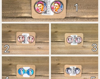Frida Kahlo Stainless Steel Earrings, Frida gift idea, Frida hanging Earrings, Frida Dangling earring