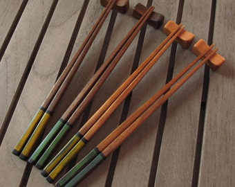Chopsticks, Spring/Summer - Hardwood with Oil, Milk Paint, Wax Finish, One Pair