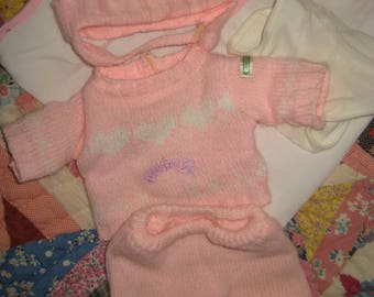 Cabbage Patch Kid Clothing/Outfit BBB Knit Outfit and Blanket
