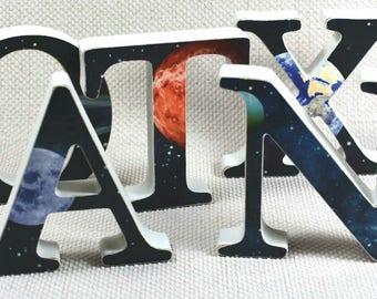 Galaxy Letters, Buy 3 get 1 letter Free, Space Letters + Free Gift Wrapping