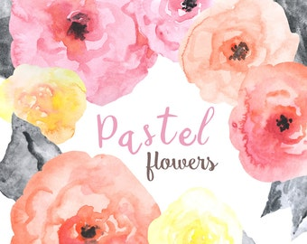 Watercolor Pastel Florals for 2017 trends