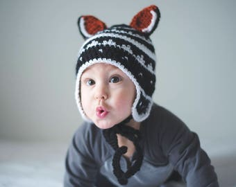 PDF Crochet Pattern for My Little Fox Baby Hat