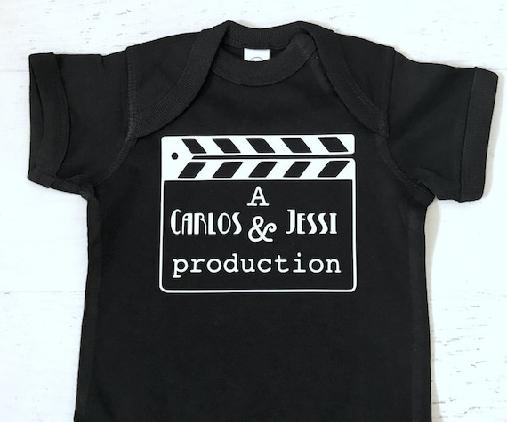Hollywood Clapboard New Baby Production Director Custom with Parents name