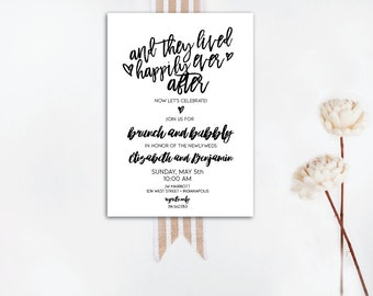 INSTANT DOWNLOAD wedding brunch / day-after brunch / morning after brunch / happily ever after brunch / rustic invite / rustic wedding / DIY