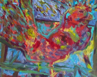 Big Rooster - Print (Painting)