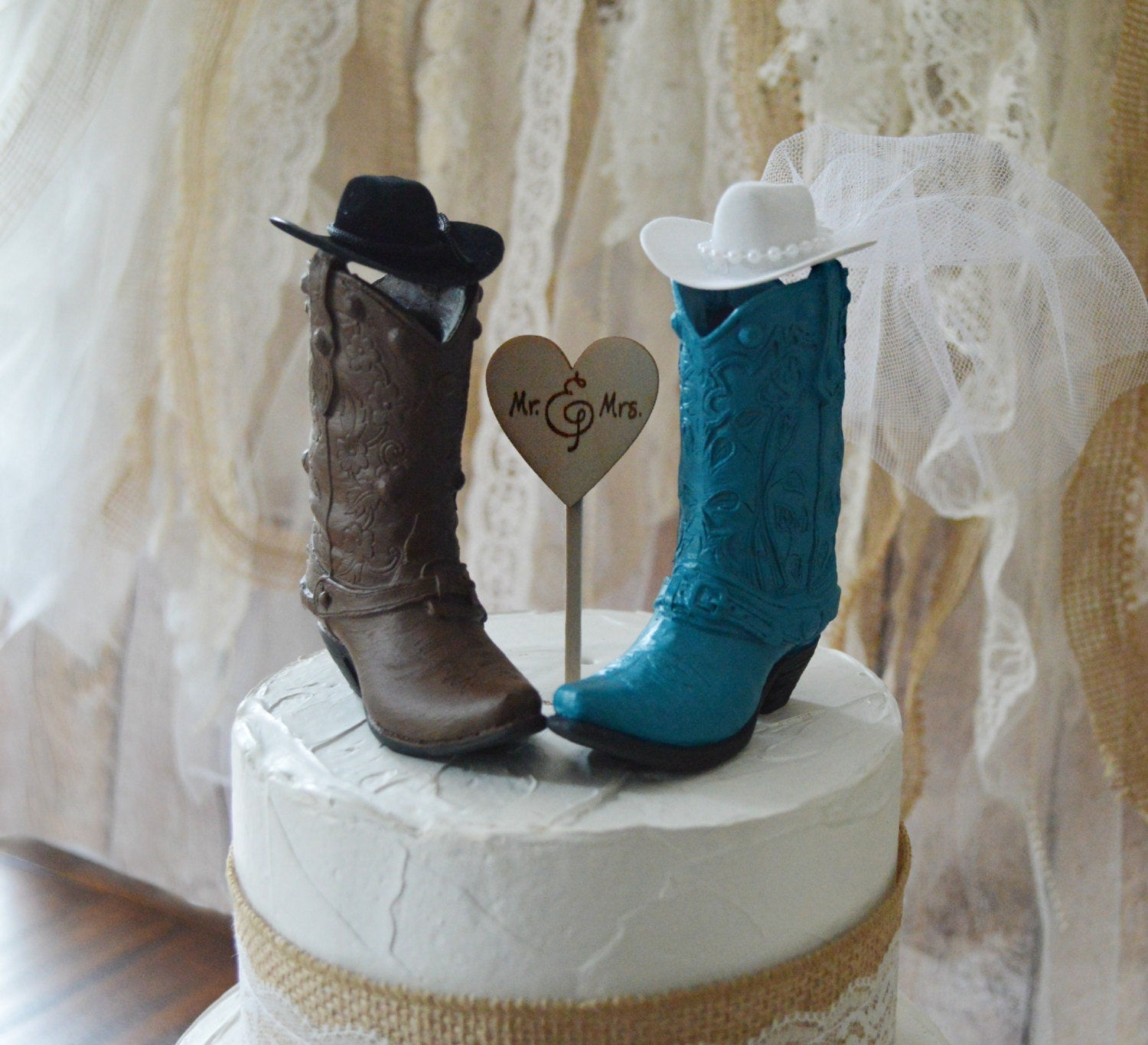 boot wedding cake topper cowboy boot wedding cake topper western weddings 12096