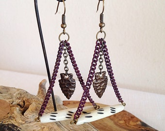 Traveling Teepee Tribal Earrings