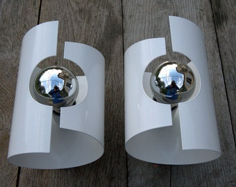 Pair of Sconces, wall light, vintage 70'.
