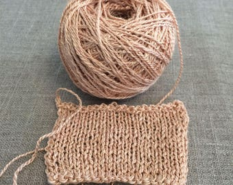 Avocado Pink Seacell Handspun Vegan Yarn 50 gr Spin Flora yarn plant dyed  seaweed cellulose viscose Free Shipping