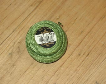 cotton Pearl 8, 10g 3347 green colors