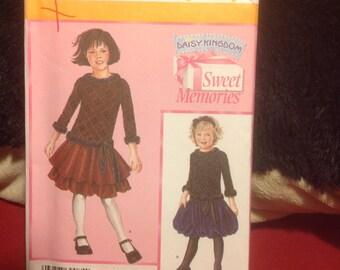 Simplicity Pattern 4065 girls's drop waist dress sizes 5,6,7,8