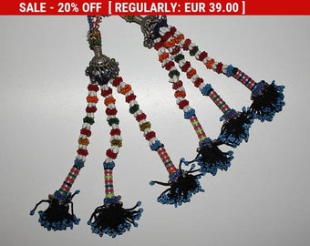 Vintage Tribal Tassels, Old Balochi Nomad Handmade Tassel, Oriental Home Decor, Beaded Tassels, Central Asia, Tribal Costume Components
