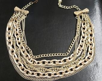 Vintage gold strand necklace