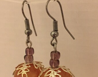 Round earrings.....free shipping