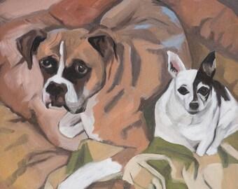 Custom Pet Portrait- Two Dogs Example