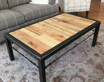 Hand Made Coffee Table, Industrial Table, Industrial Coffee Table, Rustic  Table, Vintage