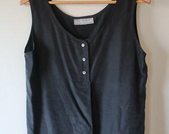 Minimalist Black silk top