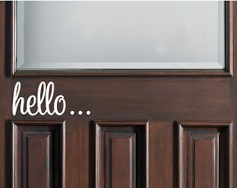 Hello Front Door Vinyl Decal Sticker