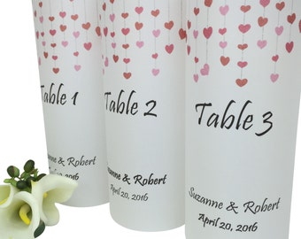 Wedding Reception Decorations -Wedding Table Number -Wedding Luminaries -Wedding Decoration -Wedding Reception -Table Number Luminaries