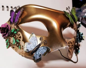 Rustic Butterfly Masquerade Mask