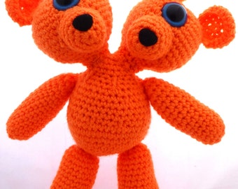Crocheted Two Headed MutaTED™ - Orange