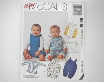 Vintage McCall's Sewing Pattern 5445 - Infant's T-shirt & Jumpsuit in 2 lengths - 1991 - baby, toddler, jumper, romper, pullover, onesie