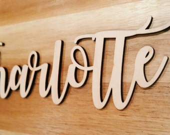 Personalised Wooden Calligraphy Words/Place Names/Table Names for Weddings & Events