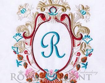 Machine Embroidery Design Luxury Monogram Blank - 2 sizes