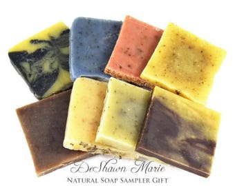 Natural soap gift set, vegan soap samples, organic soap sampler, cold process soap, Christmas soap gift, All natural soap, Valentine's Gift