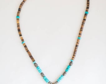 Arrowhead Pendant with Turquoise Inlay