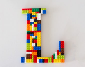 "Monogram Wall Letter 10"" Made With LEGO® Bricks"