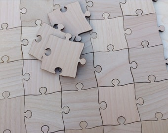 25 Large 2 inch Blank Puzzle Pieces Wedding Guest Book Puzzle/ Birthday/ Anniversary