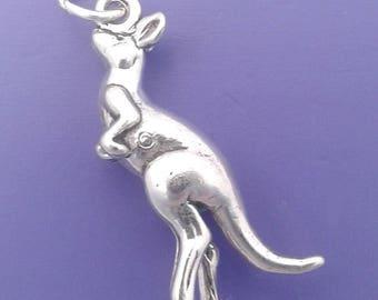 KANGAROO Charm .925 Sterling Silver Australia Pendant - lp1627