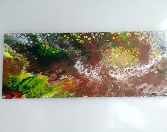 "Carioca   16"" X 40"" X 1,5""  Acrylic on Canvas"