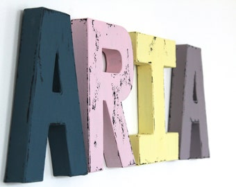 Colorful Nursery Personalized Name Sign for Boy Nursery Decor or Girl Nursery Decor